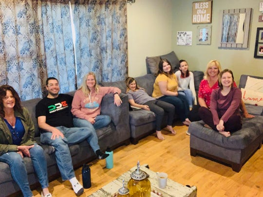 Regina Roberts is a House 2 House host for Alive Family Church. Pictured, from left, are Lacy Livingston, Nate Scott, Heather Sharpe, Amanda Roberts, Andrea Roberts, Liz Roberts, Regina Roberts and Catherine Roberts.
