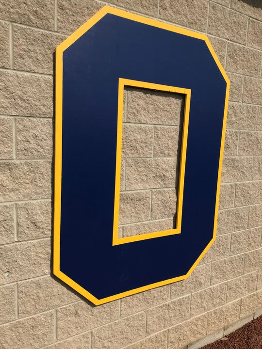 The O on the visiting dugout at Ontario High School's baseball field lets opponents know just whose house it is.