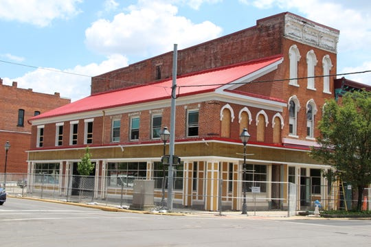 Construction of the Center Street Market continues in downtown Marion. The market, located at the corner of Center and Main streets, is expected to open in early August, according to Cliff Edwards, CEO of Center Street Community Health Center, which owns the market.