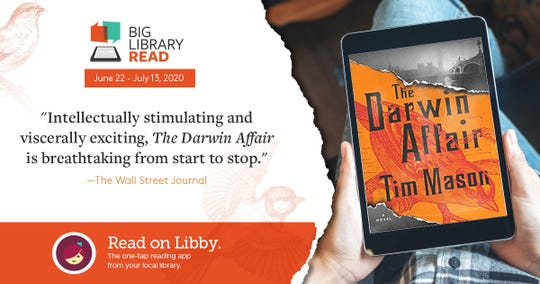 Baxter County Library patrons can join the Big Library Read with the thriller novel The Darwin Affair, available from June 22-July 13.