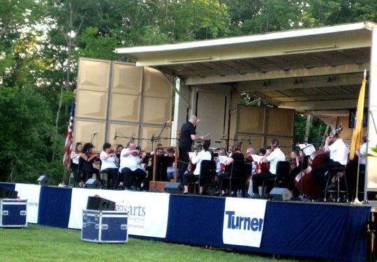The New Jersey Symphony Orchestra performs in its portable stage at the 2019 Giralda Music and Arts Festival in Madison. The 2020 festival has been postponed due to the COVID-19 pandemic.