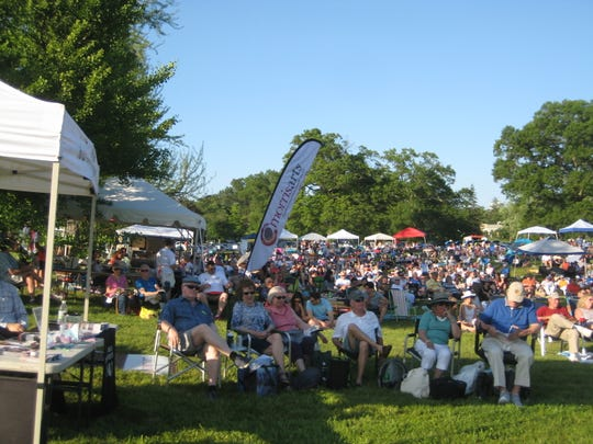 A large audience gathers for the 2019 Giralda Music and Arts Festival in Madison. The 2020 festival has been postponed due to the COVID-19 pandemic.