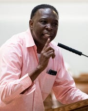 William Boyd comments during discussion on the mandatory mask ordinance in the city council meeting at city hall in Montgomery, Ala., on Tuesday June 16, 2020.