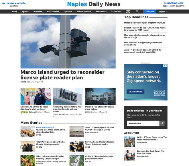 naplesnews.com speedier and streamlined design for our desktop site and mobile web.