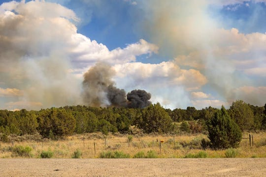 The Six Shooter Fire is pictured on June 16 in Colorado.