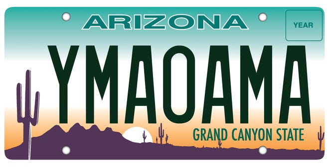 Arizona has begun issuing new license plates that are random combinations of letters and numbers. Previously, Arizona plates were three letters followed by four numbers that were printed sequentially.