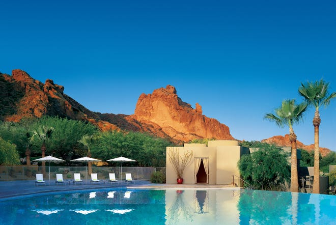 Imagine your adults-only staycation amidst 53 acres of lush desert beauty at Sanctuary Camelback Mountain.