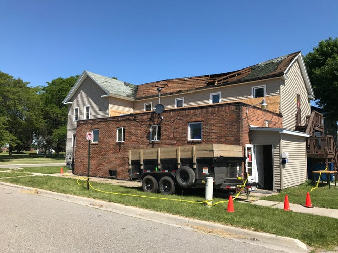 Port Huron Fire Department was called to the scene of a roof collapse at 615 Bard Street, Wednesday, June 17, 2020.