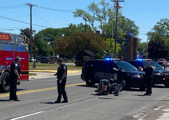 Port Huron Police were dispatched to the area of Lapeer and 20th avenues Wednesday afternoon, June 17, 2020, to reports of a subject who fell off a motorcycle.