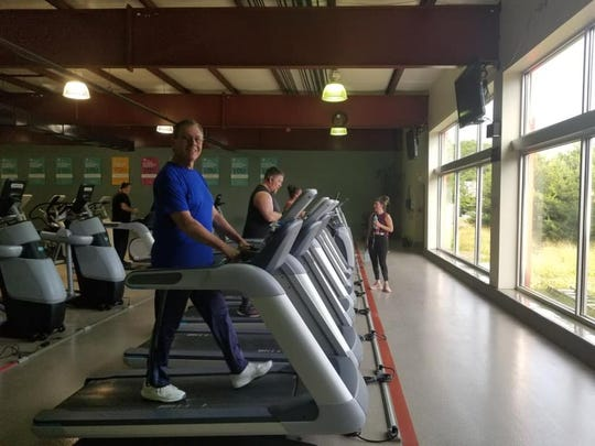 Members using the Wellness Center at the Southern Branch YMCA in Shrewsbury, PA.