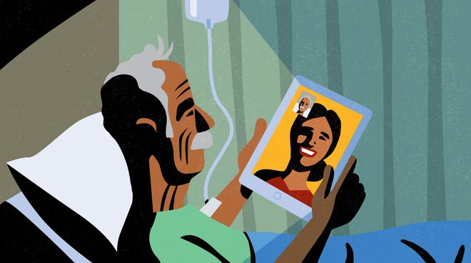 Digital devices can connect loved ones as well as patients with physicians.