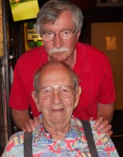 Henry Miller and his father, Bill Miller at Bill's 85th birthday