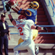 Angelo State's Chris Brazzell makes a sensational catch in a 1997 game.