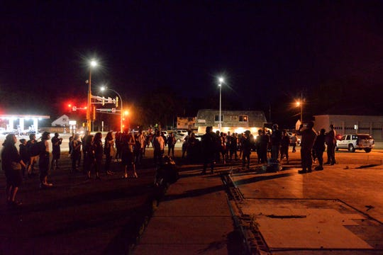 A group of individuals gathered around 10 p.m. on Tuesday, June 16, 2020, at the intersection of Ninth Avenue South and University Drive for the Be The Community event.