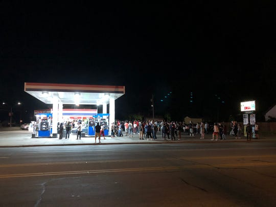 Around 11:50 p.m. on Tuesday, June 16, 2020, a group of individuals went across the intersection of Ninth Avenue South and University Drive to continue their peaceful demonstrations at the time.