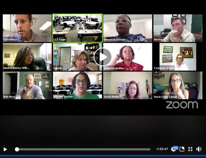 Members of the Leon County Schools Re-Opening Task Force met via Zoom to discuss priorities for reopening schools in August.