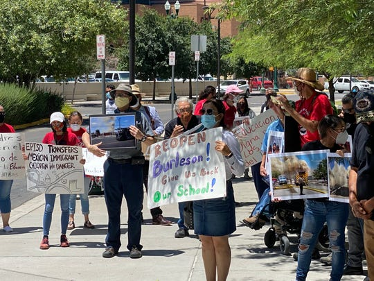 The Familias Unidas Por La Educación organization held a rally Wednesday to announce their lawsuit against the El Paso Independent School District outside the Albert Armendariz Sr. Federal Courthouse in Downtown El Paso.