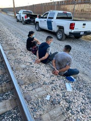 U.S. Customs and Border Protection officers detained almost two dozen migrants over three days attempting to cross illegally as train stowaways.