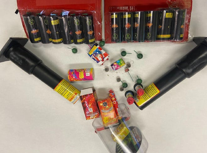 Fireworks were seized by the Oxnard Police Department on June 8 as part of its fireworks suppression efforts.