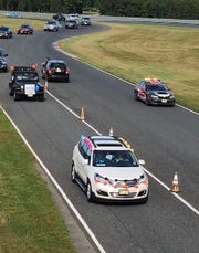 Milllville Senior High School Class of 2020 celebrates their graduation with a victory lap at the New Jersey Motorsports Park. June 16, 2020.