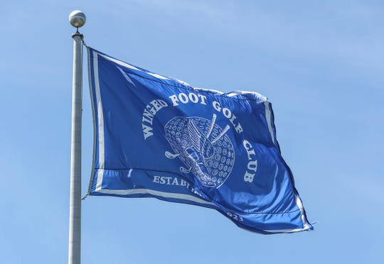 The club flag flies above Winged Foot Golf Club in Mamaroneck on Wednesday, June 17, 2020.