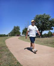 Anthony Hernandez tries to get out for a walk about five times a week and likes the Circle Trail at Lake Wichita.