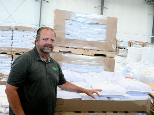 Owner Tim Jacobson is proud of his new construction from where outgoing products are stored and shipped.