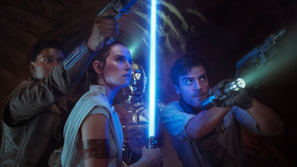 Finn, Rey, and Poe come together in Rise of Skywalker.