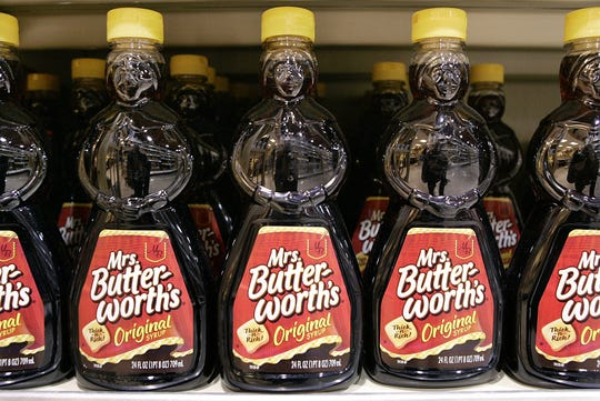 "Conagra Brands announced it has ""begun a complete brand and packaging review on Mrs. Butterworth's."""