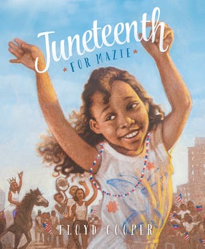 """Mazee and her family reflect on the past and celebrate the day her ancestors were no longer slaves in """"Juneth for Mazee,"""" written and illustrated by Floyd Cooper."""