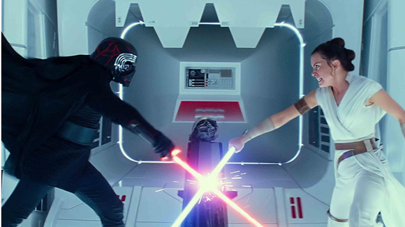 Rey and Kylo square off in Rise of Skywalker.