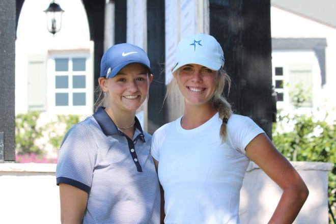 Lindyn Ross and Reagan Chaney were invited to compete in The Oklahoma Junior Masters at Southern Hills Country Club in Tulsa. They were two of only nine girls in Oklahoma selected to play in this event.
