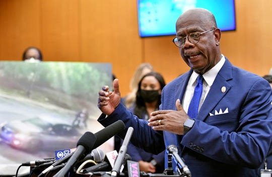 Fulton County District Attorney Paul Howard speaks during a press conference at the Fulton County Superior Courthouse, Wednesday, June 17, 2020 in Atlanta.