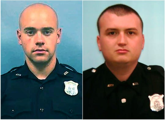 Officer Garrett Rolfe, left and Officer Devin Brosnan.