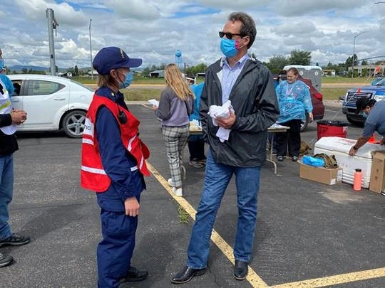 As part of the state's effort to partner with tribal communities to perform enhanced surveillance testing, Gov. Steve Bullock visited all tribal testing sites.