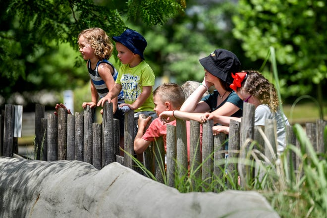Youngsters visit Potter Park Zoo, which is partnering with Lansing School District on summer school programming this year.