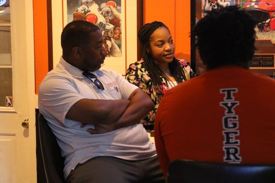Teana Sykes, the wife of Mansfield Senior boys basketball coach Marquis Sykes, spoke about what it is like to raise a family during a trying time during a roundtable discussion.