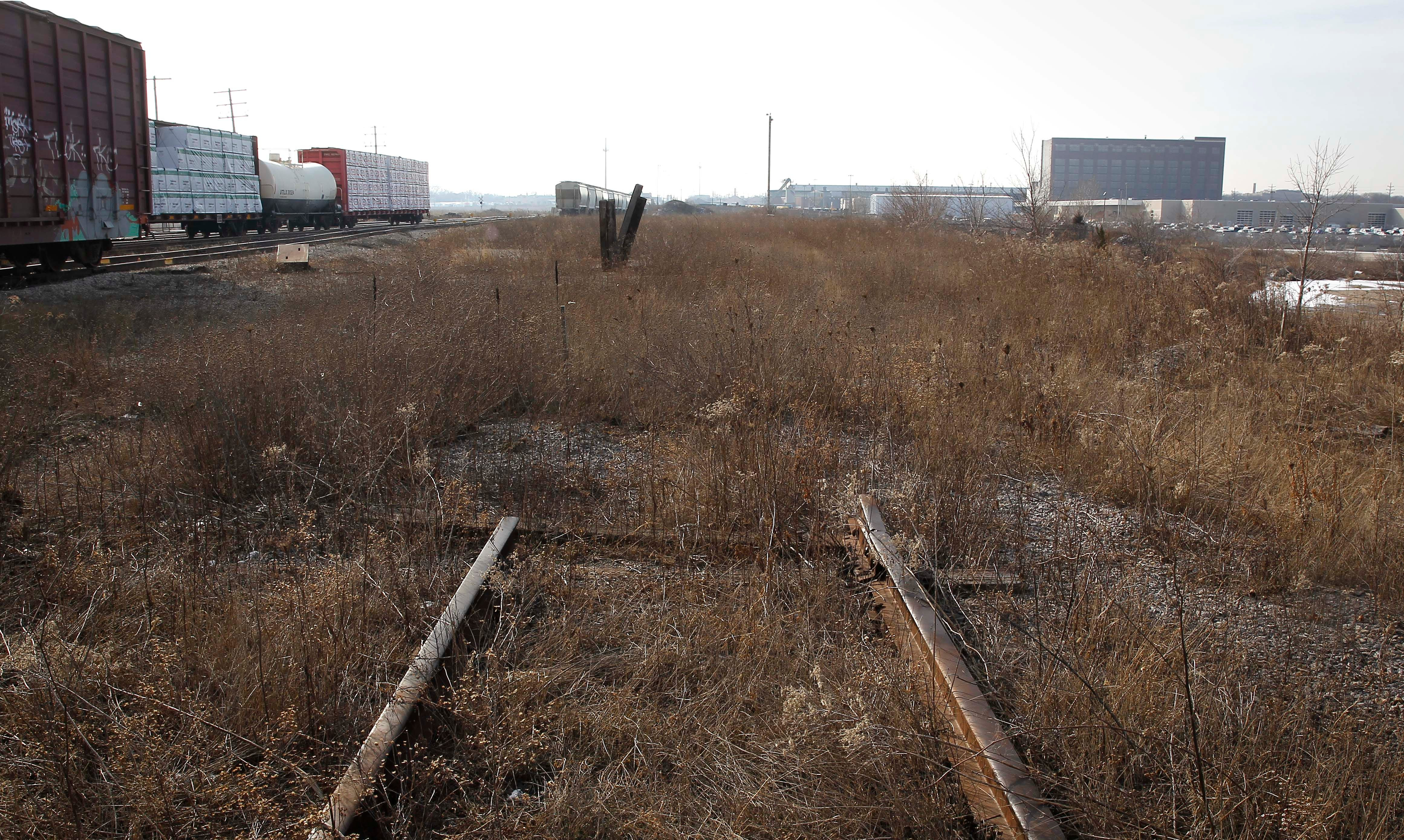 A once thriving rail yard at North 35th Street and West Capitol Drive moved car frames from A. O. Smith and other manufacturing companies. It is now desolate except for a few rail lines.