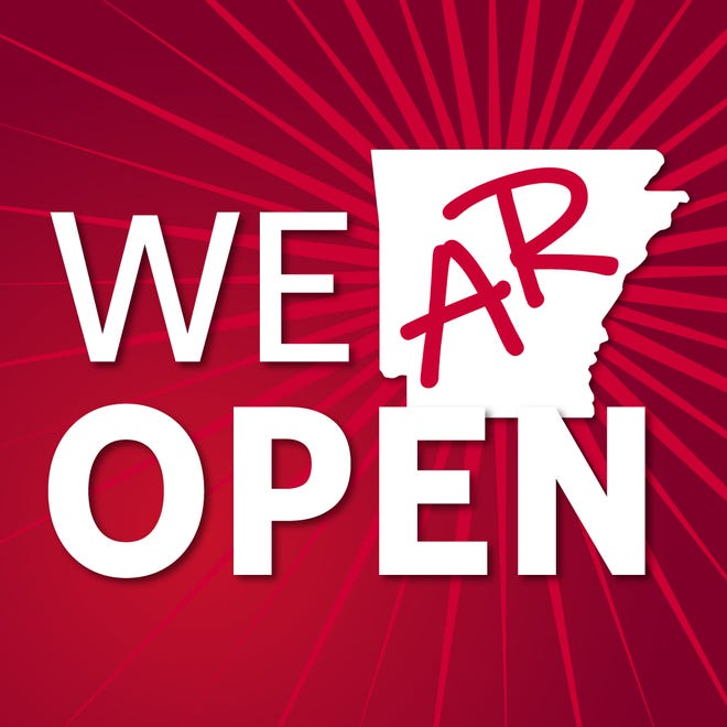 """NATCO has developed a series of graphics featuring the theme """"We AR Open"""" to support and promote the reopening of business in Arkansas."""