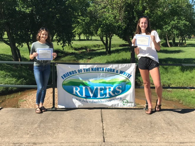 Both Sydney Czanstkowski (left) and Anna Grace Foreman (right) will each receive a $1,000 scholarship for the 2020-2021 school year from the Friends of the North Fork and White Rivers.