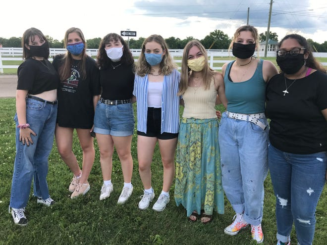 """Franklin Teens for Justice was founded by (left) Analiese Hardgrave, 16, Natalie Cicero, 15, Celeste Phillips, 14, Genevieve Phillips, 16, Verona Collins, 16, Beka Underhill, 16, and Sivani Kasibhotla, 16. The group held its first event, """"Say Their Names Memorial"""" at the Park at Harlinsdale Farm in Franklin."""