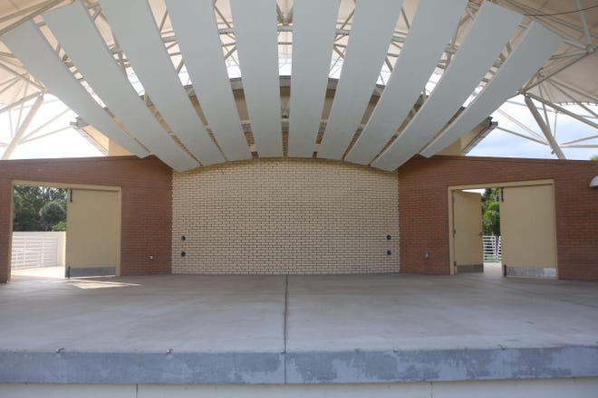 Spray paint graffiti from vandals has been cleaned from the Bonita Springs Riverside Park bandshell by Wednesday.