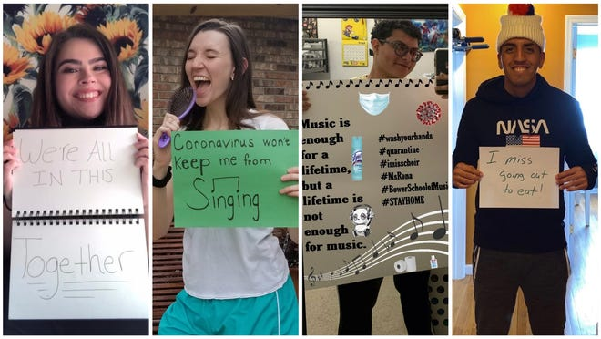 The combined FGCU choral ensembles created a work performed over barking dogs, lawnmowers, background chatter and the pinnng! of text message alerts.