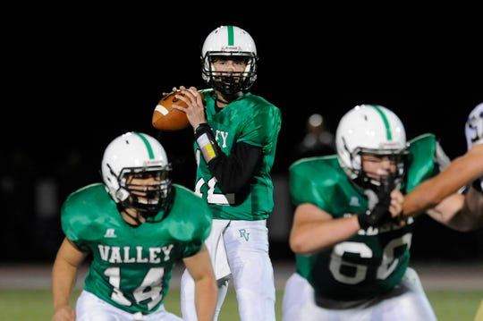 Pascack Valley quarterback Colin Dedrick during a 2015 game.