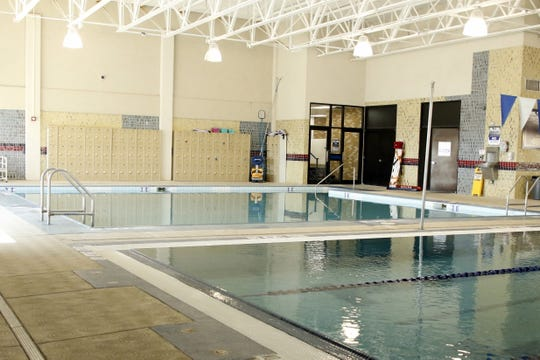 The shallow pool at the Carlsbad High Natatorium is open for water exercises on June 18, 2020. The Natatorium reopened on June 3 and is available for lap swimming every day of the week.