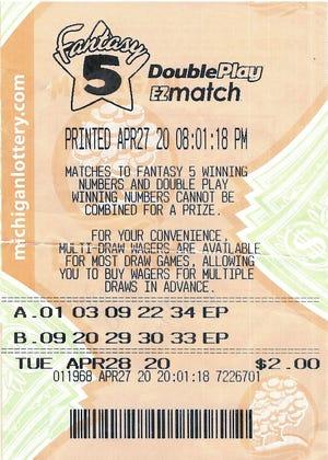 The winning ticket drawn April 28.