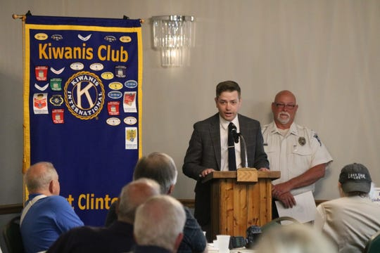 Ron Timmons, a detective with the Port Clinton Police Department, was honored by the local Kiwanis Club as Officer of the Year for his work investigating the disappearance of Harley Dilly.
