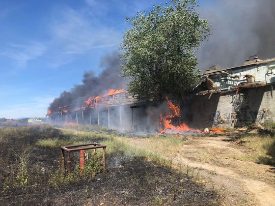 This Cal Fire photo is from the scene of a blaze in the 900 block of Diamond Avenue in Red Bluff on Thursday, June 18, 2020.