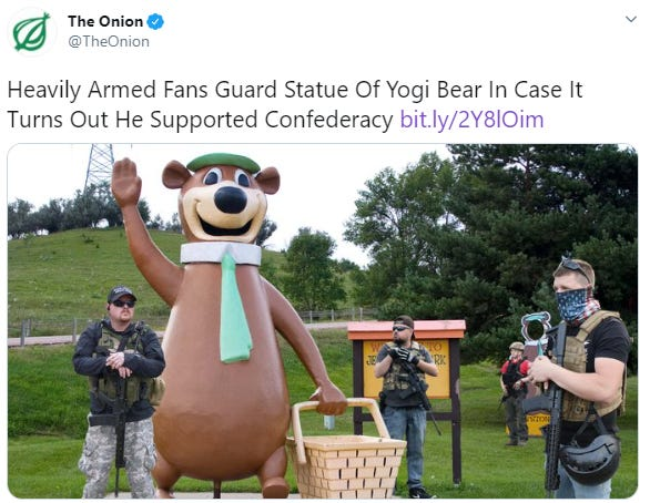 The Onion's recent article, set in Sioux Falls.