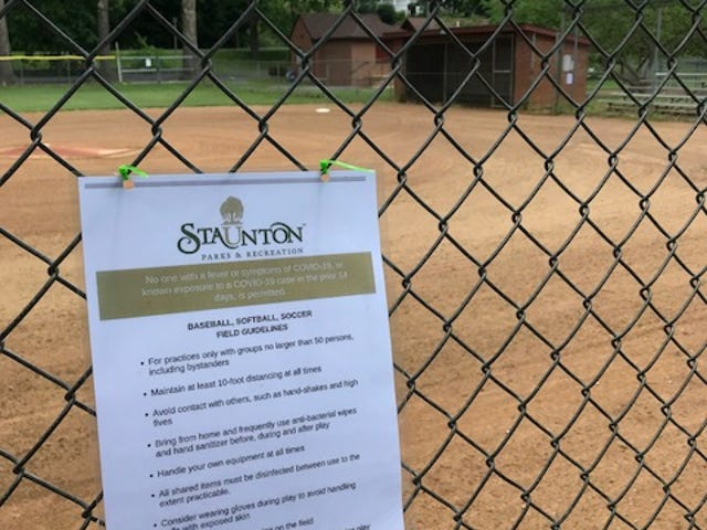 A notice about youth baseball from the City of Staunton.